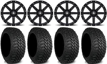 Amazon com: MSA Black Clutch UTV Wheels 235x85x16 Mud Hog LT