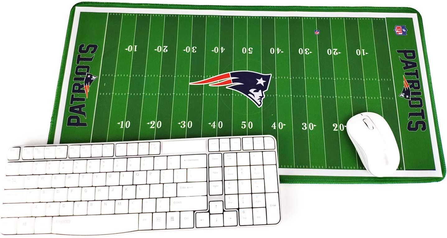 "TRIPRO Football Field Design Large Gaming Mouse Pad XXL Extended Mat Desk Pad Mousepad,Size 23.6""x11.8"",Water-Resistant,Non-Slip Base,for Patriots Fans Gifts"