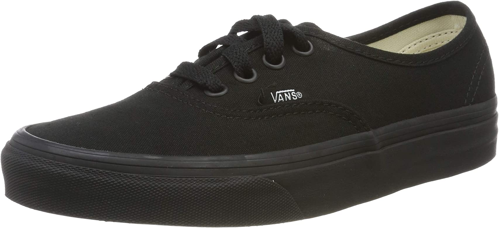 950b657083 Vans Unisex Authentic Black Black Sneaker - 7.5