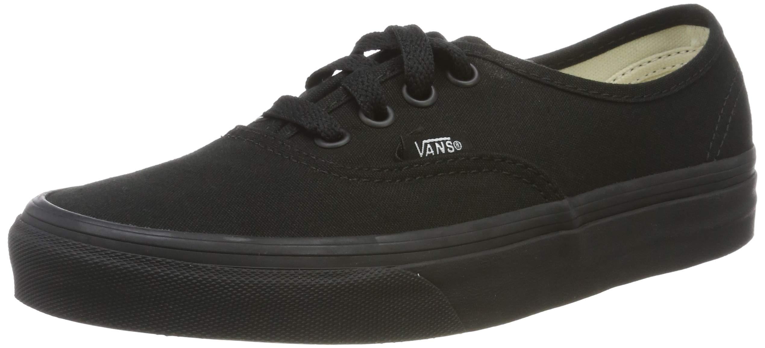 Vans Authentic Unisex Skate Trainers Shoes Black/Black 12 B(M) US Women / 10.5 D(M) US Men by Vans
