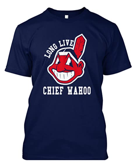 28d69be8 Indians Fans Just $19.99 Navy Long Live Chief Wahoo Funny Baseball T-Shirt  Gift Sizes