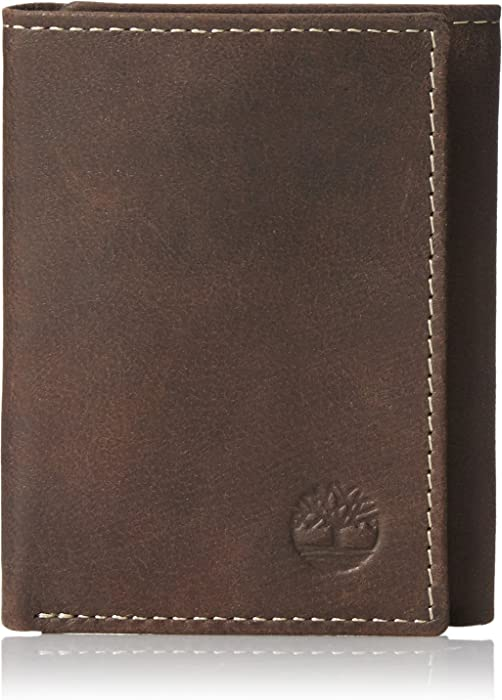 Timberland Men's Cloudy Trifold Wallet - brown -: Amazon.co.uk: Clothing