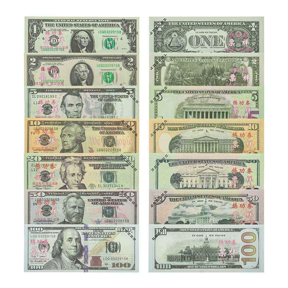 2 5 Uspeedy 350 Pieces Prop Money Movie Play Money Set 1 100 Dollar Bills Double Sided Pretend Dollar Bills 20 10 Amount 9,400 Dollars 50