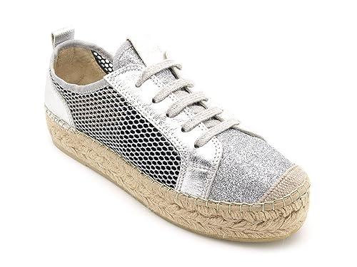 Vidorreta - Alpargatas de Lona para mujer Plateado Size: 41: Amazon.es: Zapatos y complementos