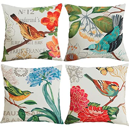 Amazon TongXi Bird And Flower Pattern Decorative Throw Pillow Amazing Decorative Throw Pillows With Birds