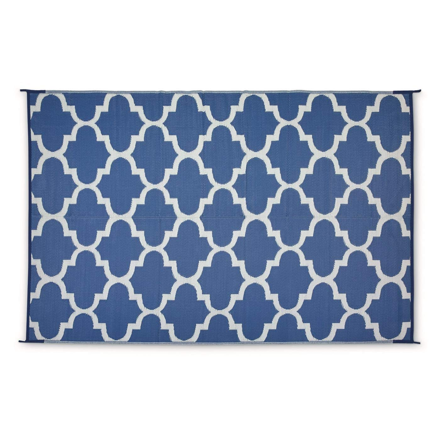 Guide Gear Moroccan Outdoor Rug, Blue/White, 9X6
