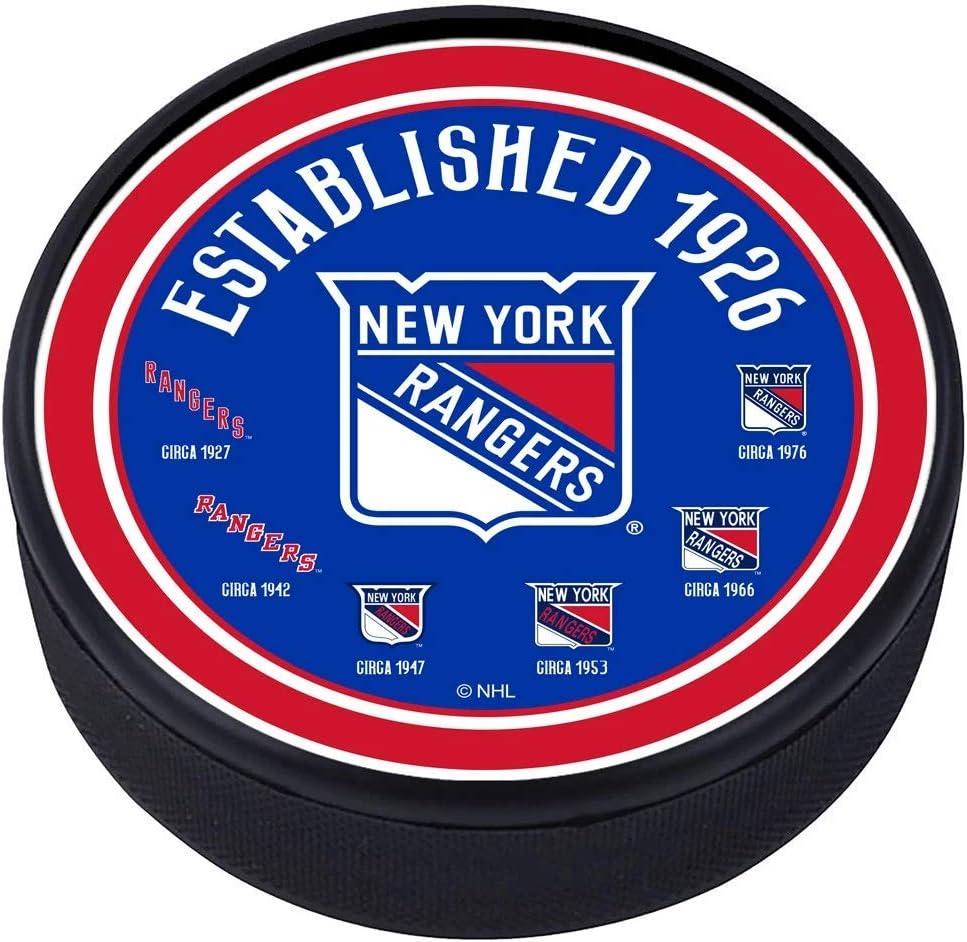 New York Rangers Heritage Textured Puck