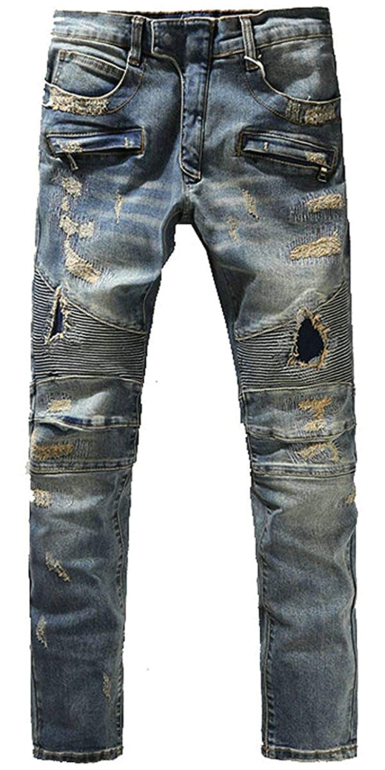 TOP Fighting Mens Relaxed Fit Straight Leg Flannel Lined
