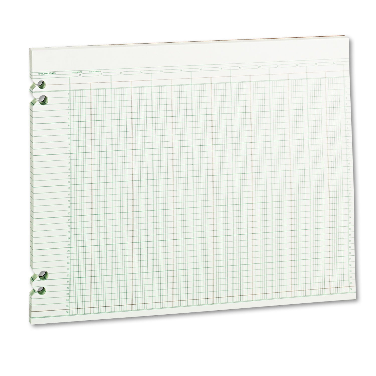 WLJG3024 United STATIONERS (OP) Accounting Sheets 24 Columns 11X14 100SHT GRE 1/ by Unknown