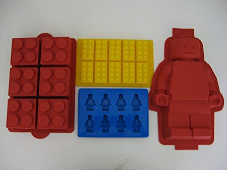 Lego Minifigure Cake mold, Lego Brick Cake, Lego Brick Ice Tray and ...