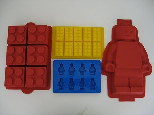 Amazon.com: Lego Minifigure Cake mold, Lego Brick Cake, Lego Brick ...