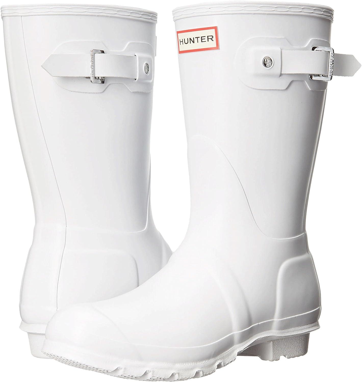 Hunter Women's Original Short Rain Boot B01NBR5A3M 5 B(M) US|White 1