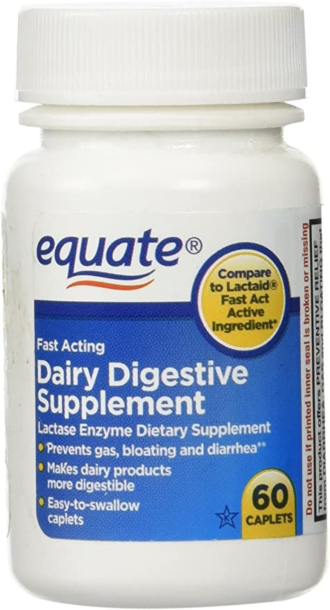 Equate Quick Action Dairy Digestive Supplement, 60ct