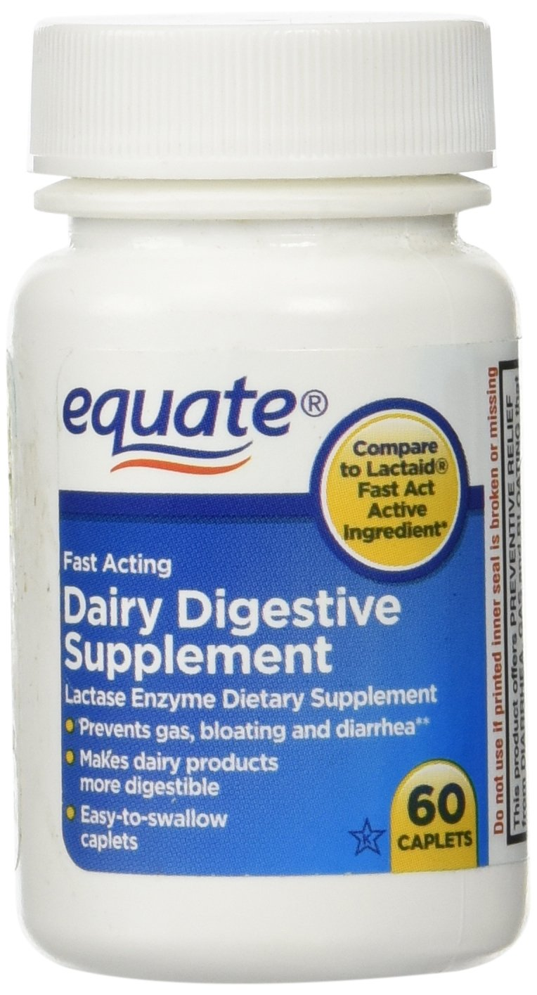 Equate Quick Action Dairy Digestive Supplement, 60ct by Equate