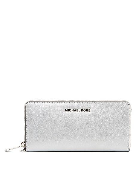 Michael Kors Jet Set Travel Cartera plata Talla única: Amazon.es: Ropa y accesorios