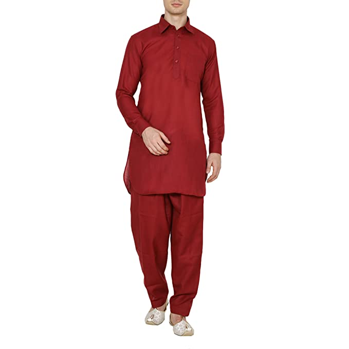 Amazon.com: Royal Kurta - Traje de lino para hombre: Clothing