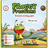 Logic Roots Froggy Fractions Card Game for Advanced Fraction Skills