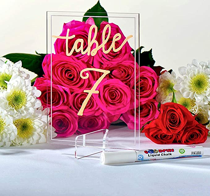 Table Number Stands Wedding Decor Table Decoration Clear Acrylic Stand for Agate and Geode Slices Agate Display Stand Escort Card Stand