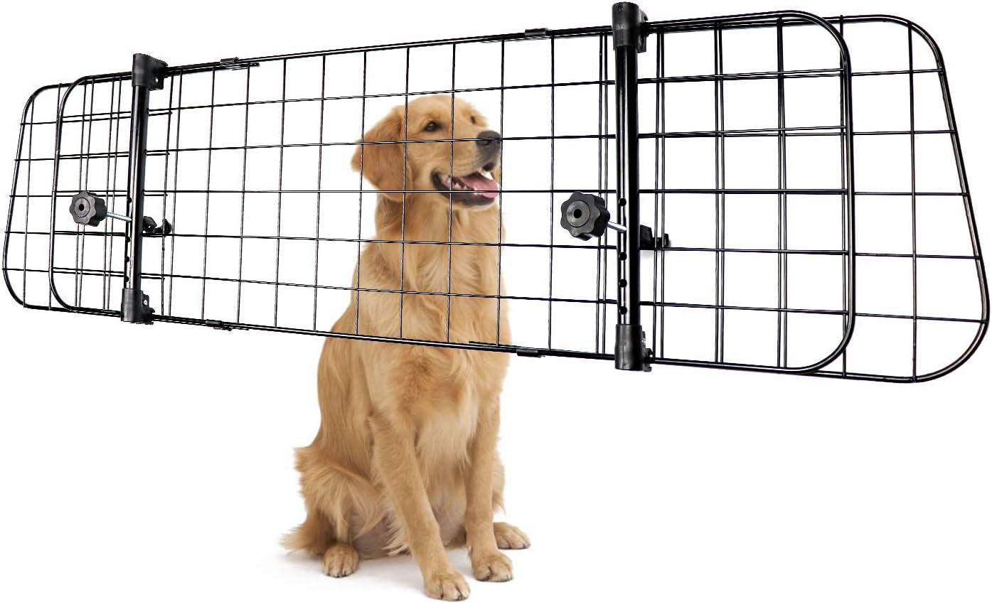 12-Inch Basics Adjustable Dog Car Barrier Silver