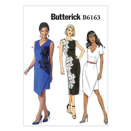 Butterick B6163 Costura para Confeccionar Blusas, Trajes, Vestidos, Moda, BTK 6163 E5