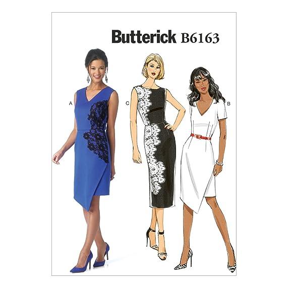 Butterick B6163 Costura para Confeccionar Blusas, Trajes, Vestidos ...