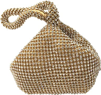 Large Size Triangle Full Rhinestones Women's Evening Clutch Bag