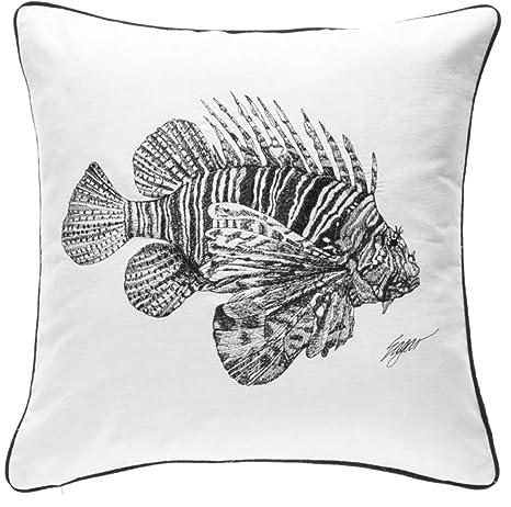 Amazon.com: Bordado pez león almohada por Clint Eagar – 20 ...