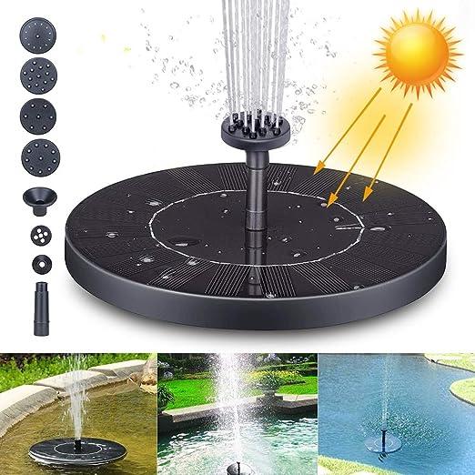 Fuente Solar Bomba, Fuente de Jardín Solar Panel y Solar Flotante con 6 boquillas, Solar Fuente Bomba para decoración de jardín, Fuente, Piscina, jardín, Estanque (XL): Amazon.es: Jardín