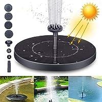 Fuente Solar Bomba, Fuente de Jardín Solar Panel y Solar Flotante con 6 boquillas, Solar Fuente Bomba para decoración de jardín, Fuente, Piscina, jardín, Estanque (XL)