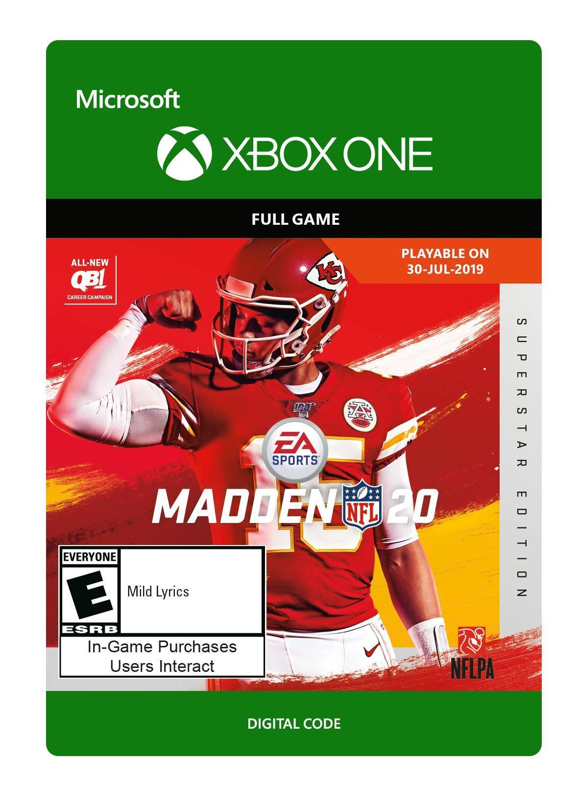 Madden NFL 20: Superstar Edition [Xbox One Digital Code]
