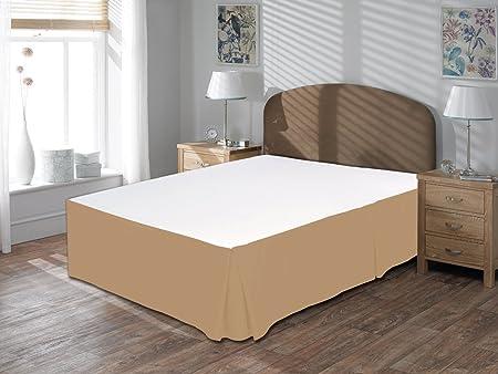 Confort Phalanges 600tc 1 Cache Sommier 406 Cm Longueur Euro Roi Ikea Taille 100 Coton égyptien Massif Taupe Euro King Ikea