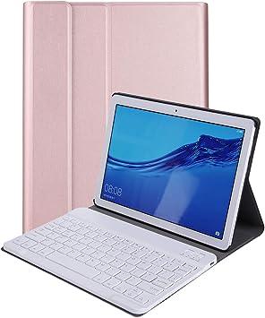 RLTech Teclado Funda para Huawei MediaPad T5 10, (QWERTY English) Ultra Slim Teclado Wireless Keyboard Case con Magnético Desmontable Inalámbrico ...