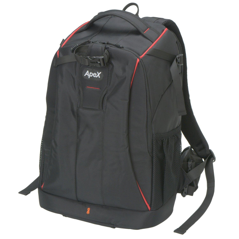 エツミ カメラバッグ リュック アペックスグランデ 20L ブラック/レッドライン VE-4210  ブラック/レッドライン B07417FJKH
