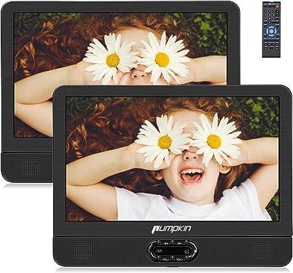 """Pumpkin 12"""" DVD Portátil Coche 2 Pantallas, Reproductor para ..."""
