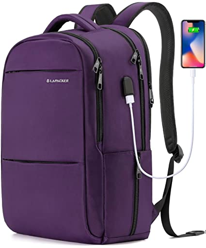 c14bc64ba4d7 LAPACKER 15.6-17 inch Business Laptop Backpacks for Women Mens Water  Resistant Laptop Travel Bag Lightweight College Students Notebook Computer  ...