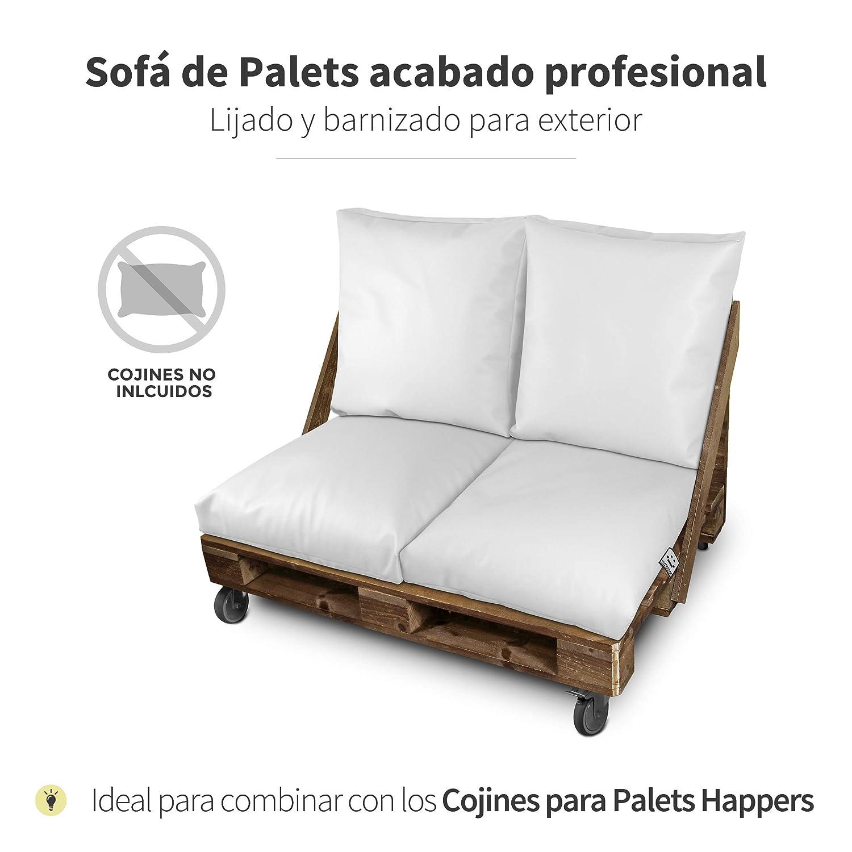 Happers Sofá - Mueble de palets Barnizado y Lijado Especial para terrazas