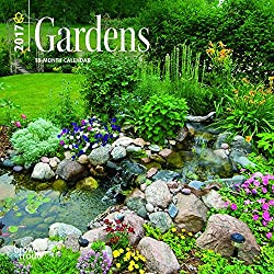 Gardens 2017 Mini 7inch x 7inch Hanging Square Wall Photographic Planner Calendar