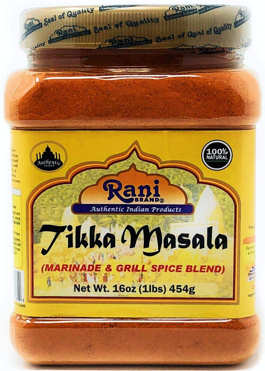 Rani Tikka Masala Indian 7-Spice Blend 16oz (454g) ~ All Natural, Salt-Free | Vegan | No Colors | Gluten Friendly | NON-GMO