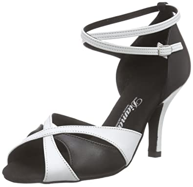 Diamant 141-058-343, Chaussures de Danse de Salon Femme, Mehrfarbig (Schwarz/Weiß), 40