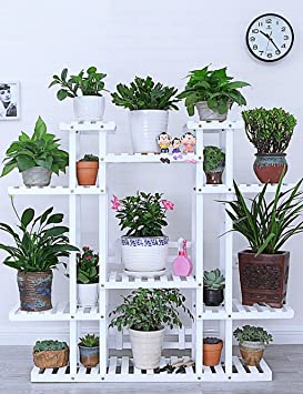 LB Estante de flores Madera Tipo de piso Estante de florero estilo
