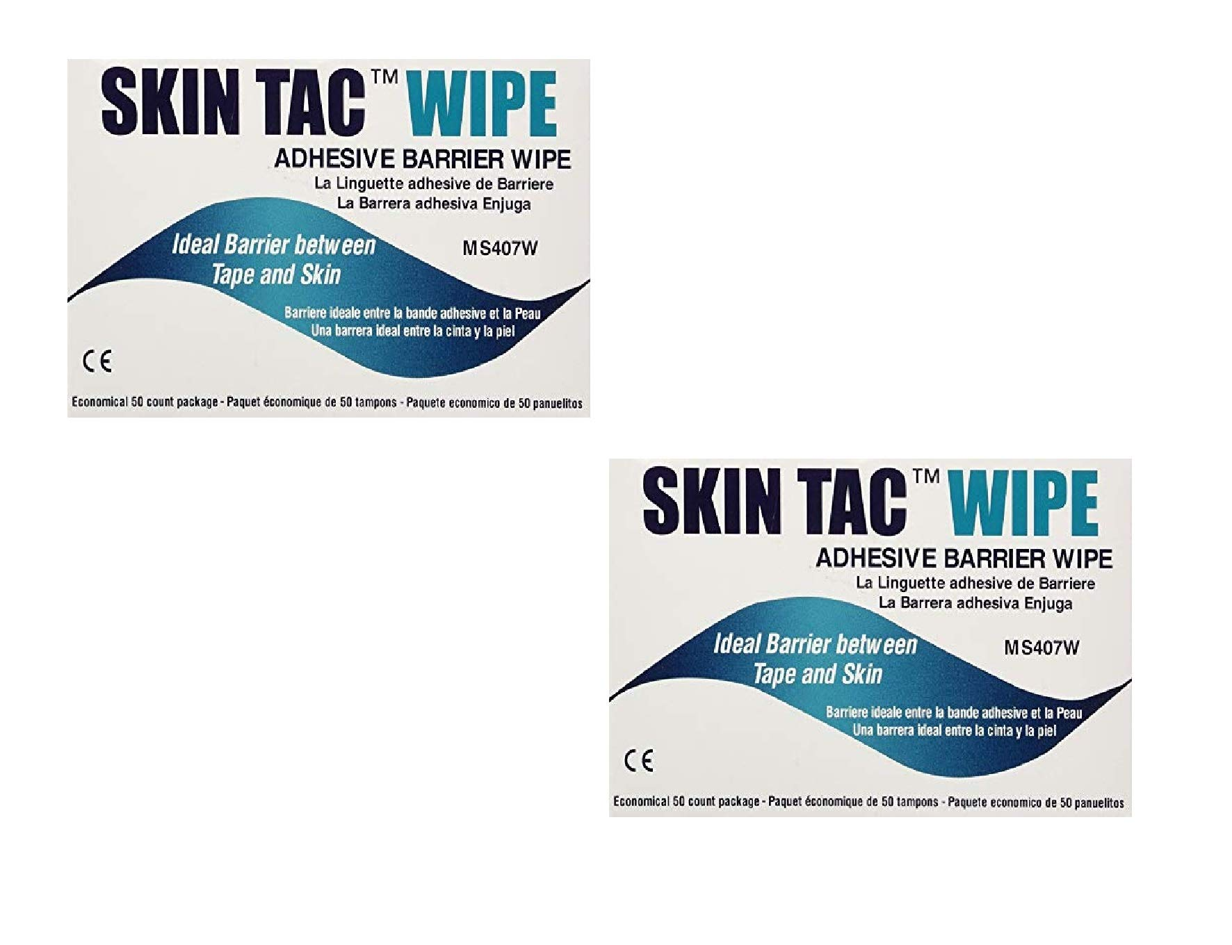 Skin-TacTM Adhesive Barrier Wipes (150 Count) (2 Pack)