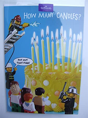 Lego birthday card how many candles by hallmark amazon lego birthday card how many candles by hallmark bookmarktalkfo Image collections