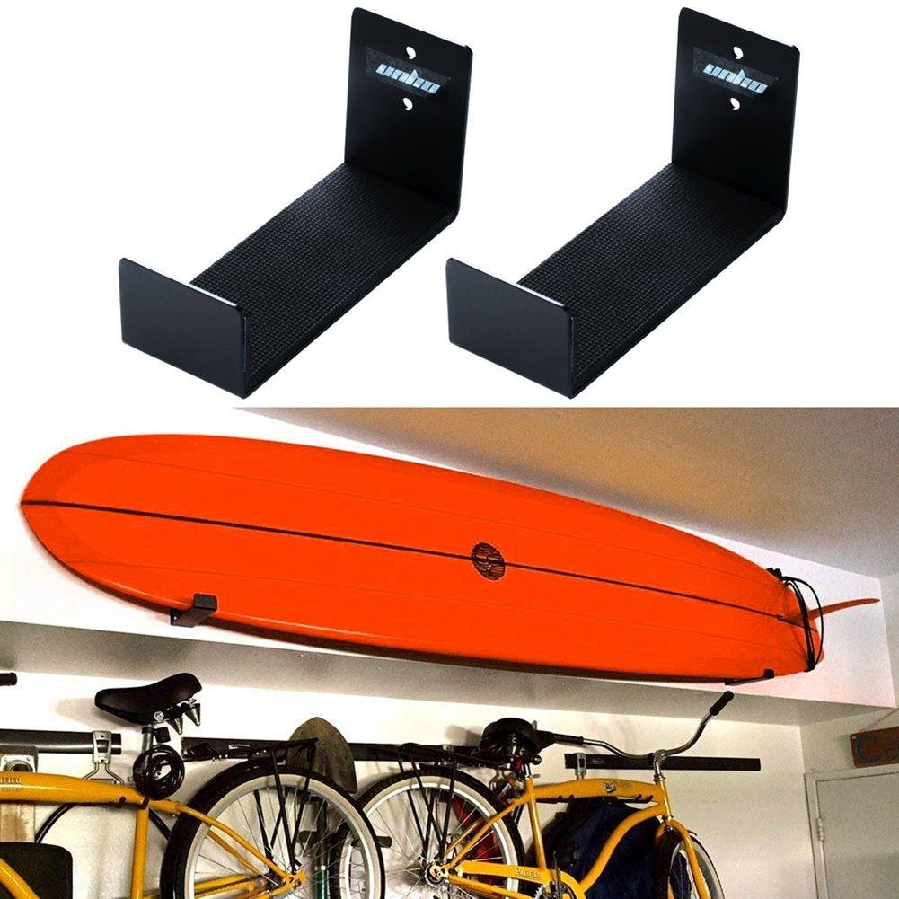 Unho/®Wandhalterung Surfboard Halterung Surfbrett Speicherung aus Aluminium Wand Unterst/ützung Montage 2 St/ück Wall Mount Bracket Display Rack Surfboard Storage Holder f/ür Surfbretter Snowboard Kiteboard Wakeboard Longbo Surfbrett