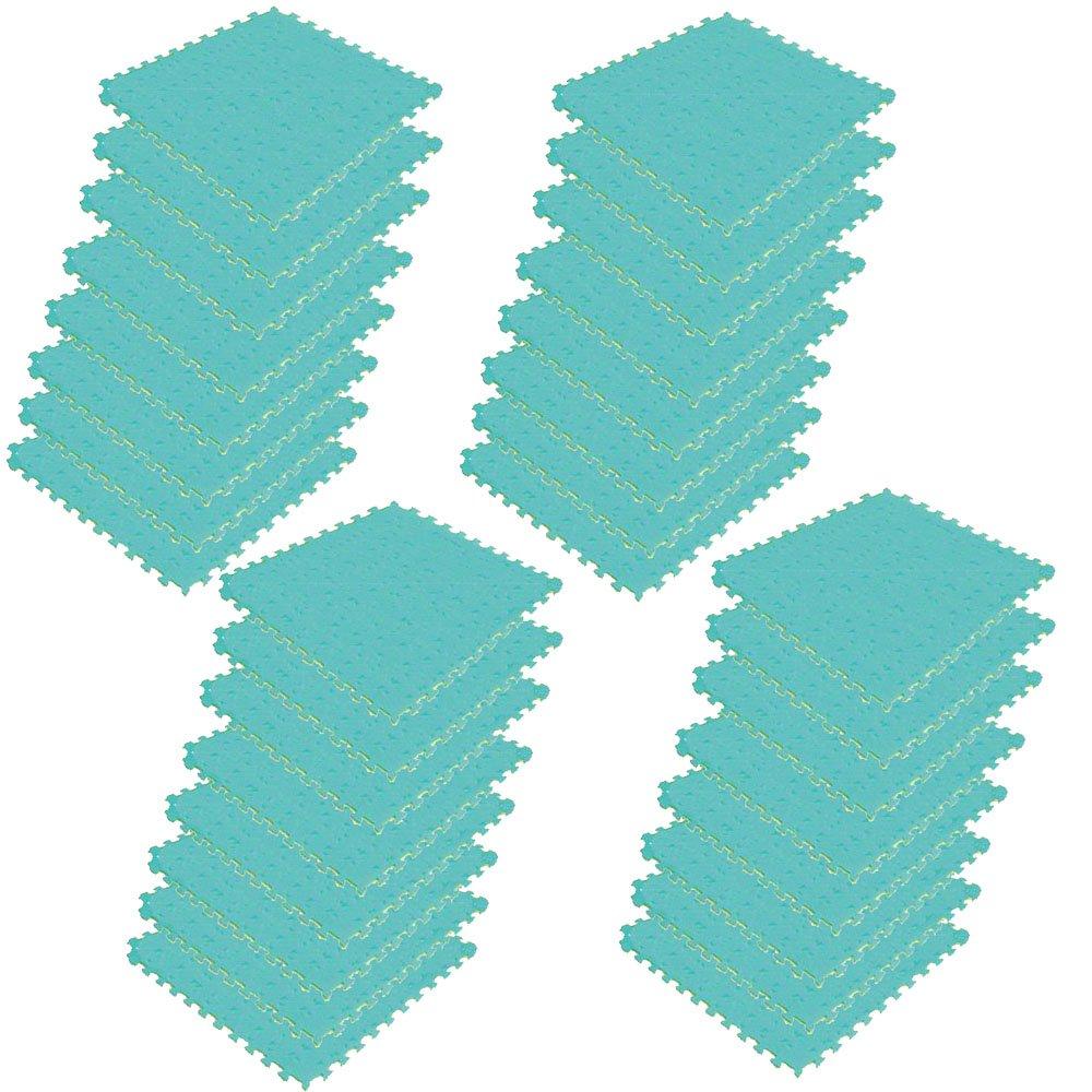 ボディメーカー(BODYMAKER) リバーシブルジョイントマット2.0 100×100×2cm イエロー×グリーン 32枚   B01DLYTTWG