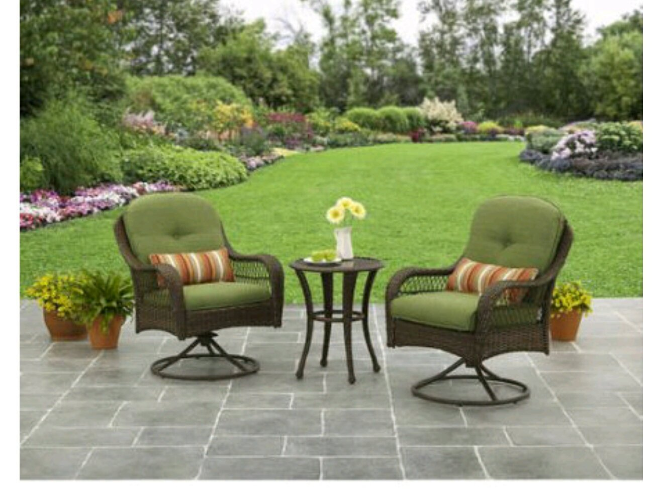 Amazon.com: 3 Piece Outdoor Furniture Set, Better Homes And Gardens Azalea  Ridge 3 Piece Outdoor Bistro Set, Seats 2: Patio, Lawn U0026 Garden