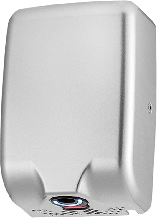 ASIALEO Heavy Duty Hand Dryer,High Speed Automatic Electric Hand Dryers for Bathrooms Commercial,Powerful Hand Dryer for restrooms,110V//1800W,Brushed Stainless Steel 304.Easy to Installation