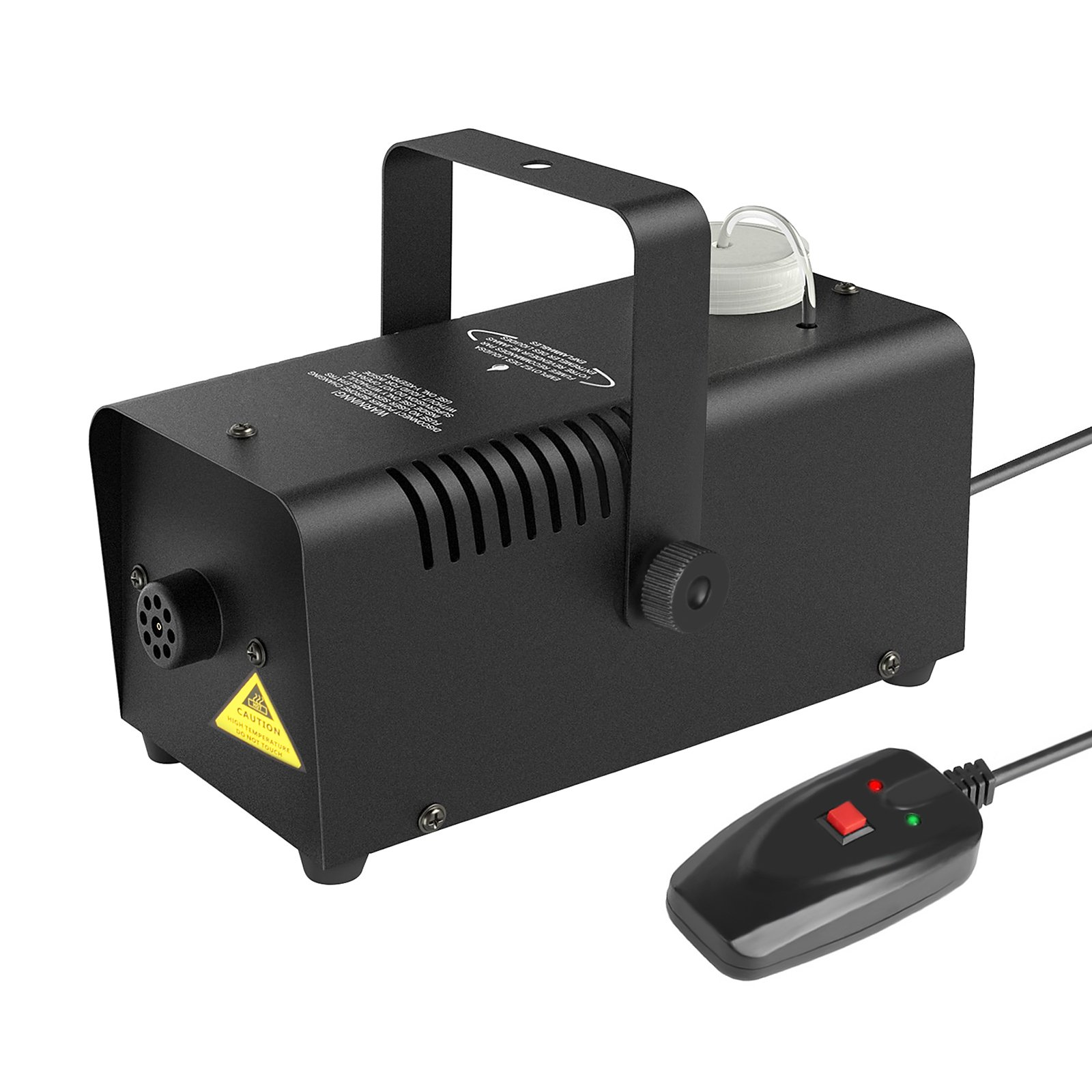 Portable Fog Machine 400-Watt Wired Remote Controlled Stage Smoke Machine for Halloween Party Weddings