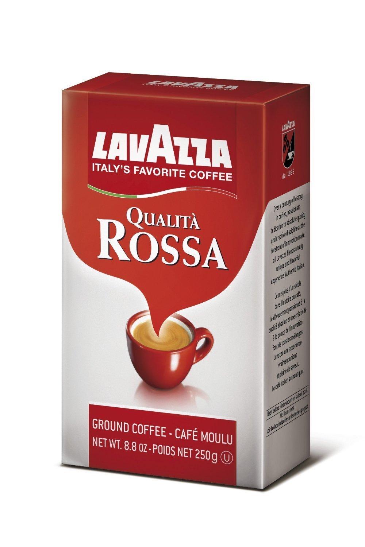 Lavazza Qualita Rossa - Caffe Ground Espresso, 8.8-Ounce Bag (Pack of 12)