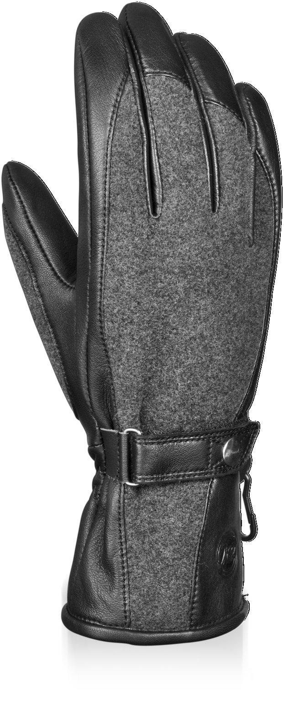 Reusch Snowsports Women's Wanda Ski Gloves, Medium, Dark Granite