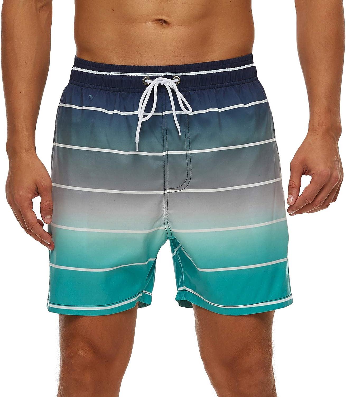 SILKWORLD Men's Swim Trunks with Mesh Lining Quick Dry SwimsuitSports Shorts: Clothing